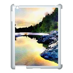 Stunning Nature Evening Apple Ipad 3/4 Case (white) by MoreColorsinLife