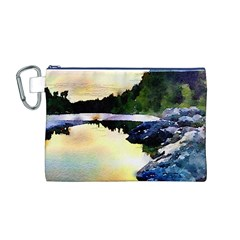 Stunning Nature Evening Canvas Cosmetic Bag (m) by MoreColorsinLife