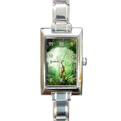 The Gate In The Magical World Rectangle Italian Charm Watches by FantasyWorld7