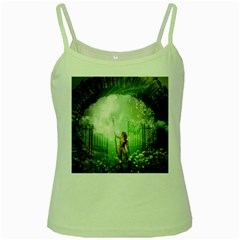 The Gate In The Magical World Green Spaghetti Tanks by FantasyWorld7