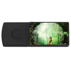 The Gate In The Magical World USB Flash Drive Rectangular (4 GB)  by FantasyWorld7