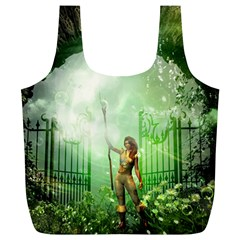 The Gate In The Magical World Full Print Recycle Bags (l)  by FantasyWorld7