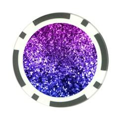 Midnight Glitter Poker Chip Card Guards by KirstenStar