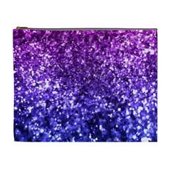 Midnight Glitter Cosmetic Bag (XL) by KirstenStar