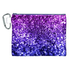 Midnight Glitter Canvas Cosmetic Bag (xxl)  by KirstenStar