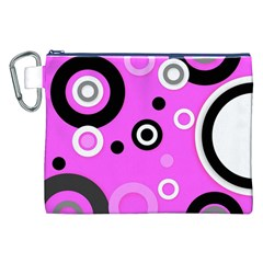 Florescent Pink Vector Pattern  Canvas Cosmetic Bag (xxl)  by OCDesignss