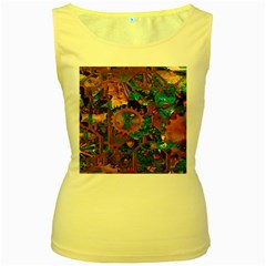 Steampunk Abstract Women s Yellow Tank Tops by MoreColorsinLife