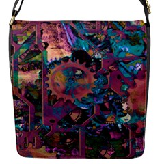 Steampunk Abstract Flap Messenger Bag (s) by MoreColorsinLife