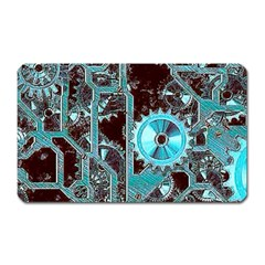 Steampunk Gears Turquoise Magnet (Rectangular) by MoreColorsinLife