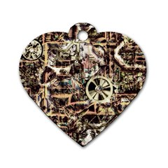Steampunk 4 Soft Dog Tag Heart (two Sides) by MoreColorsinLife