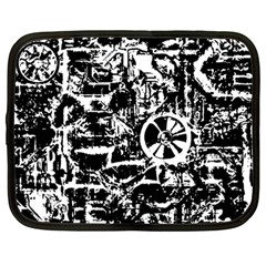 Steampunk Bw Netbook Case (large)	 by MoreColorsinLife