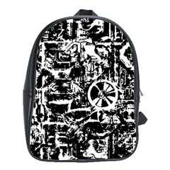 Steampunk Bw School Bags (xl)  by MoreColorsinLife