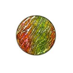 Orange Green Zebra Bling Pattern  Hat Clip Ball Marker (10 Pack) by OCDesignss