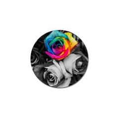 Blach,white Splash Roses Golf Ball Marker (10 Pack) by MoreColorsinLife
