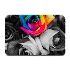 Blach,white Splash Roses Plate Mats by MoreColorsinLife
