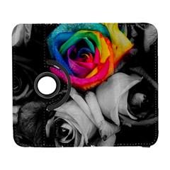 Blach,white Splash Roses Samsung Galaxy S  Iii Flip 360 Case by MoreColorsinLife