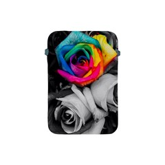 Blach,white Splash Roses Apple Ipad Mini Protective Soft Cases by MoreColorsinLife