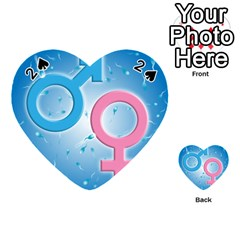 Sperm and Gender Symbols  Playing Cards 54 (Heart)  by ScienceGeek