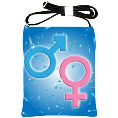 Sperm And Gender Symbols  Shoulder Sling Bags by ScienceGeek