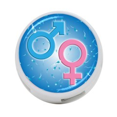 Sperm And Gender Symbols  4 Port Usb Hub (two Sides)  by ScienceGeek