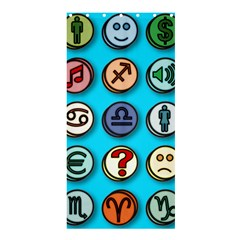 Emotion Pills Shower Curtain 36  X 72  (stall)  by ScienceGeek