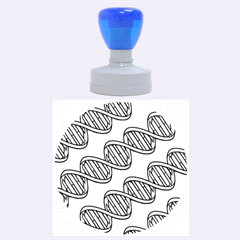 Dna Pattern Rubber Round Stamps (large) by ScienceGeek