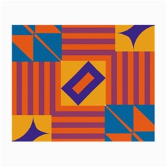 Shapes and stripes symmetric design Small Glasses Cloth (2 Sides) by LalyLauraFLM