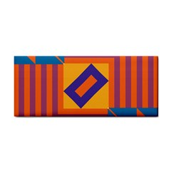 Shapes And Stripes Symmetric Design Hand Towel by LalyLauraFLM