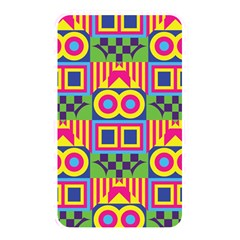 Colorful shapes in rhombus pattern Memory Card Reader (Rectangular) by LalyLauraFLM