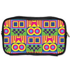 Colorful Shapes In Rhombus Pattern Toiletries Bag (two Sides) by LalyLauraFLM
