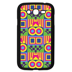 Colorful Shapes In Rhombus Pattern Samsung Galaxy Grand Duos I9082 Case (black) by LalyLauraFLM
