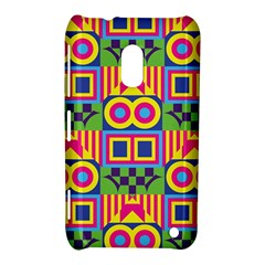 Colorful shapes in rhombus pattern Nokia Lumia 620 Hardshell Case by LalyLauraFLM