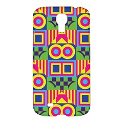 Colorful Shapes In Rhombus Patternsamsung Galaxy S4 I9500/i9505 Hardshell Case $10 by LalyLauraFLM