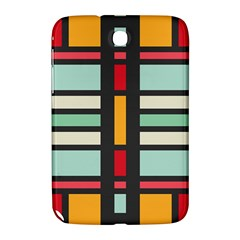 Mirrored Rectangles In Retro Colors Samsung Galaxy Note 8 0 N5100 Hardshell Case  by LalyLauraFLM