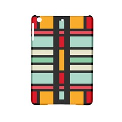 Mirrored Rectangles In Retro Colors Apple Ipad Mini 2 Hardshell Case by LalyLauraFLM