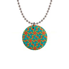 Sun Pattern 1  Button Necklace by LalyLauraFLM