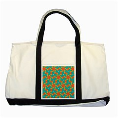 Sun Pattern Two Tone Tote Bag by LalyLauraFLM