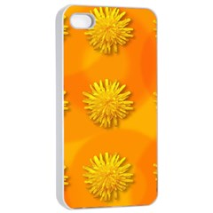 Dandelion Pattern Apple Iphone 4/4s Seamless Case (white) by theimagezone