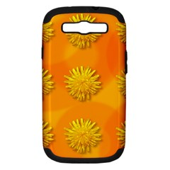 Dandelion Pattern Samsung Galaxy S Iii Hardshell Case (pc+silicone) by theimagezone