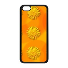 Dandelion Pattern Apple Iphone 5c Seamless Case (black) by theimagezone