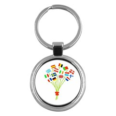 Flag Bouquet Key Chains (Round)  by theimagezone