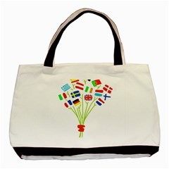 Flag Bouquet Basic Tote Bag  by theimagezone
