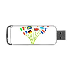 Flag Bouquet Portable Usb Flash (two Sides) by theimagezone