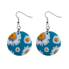 Floating Daisies Mini Button Earrings by theimagezone
