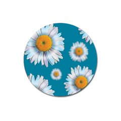 Floating Daisies Magnet 3  (round) by theimagezone