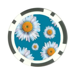 Floating Daisies Poker Chip Card Guards (10 pack)  by theimagezone