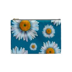 Floating Daisies Cosmetic Bag (medium)  by theimagezone