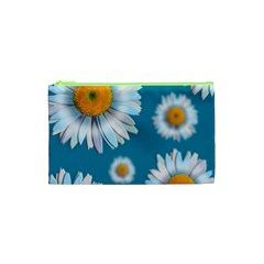 Floating Daisies Cosmetic Bag (xs) by theimagezone