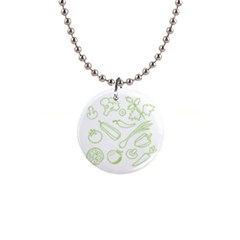 Green Vegetables Button Necklaces by Famous