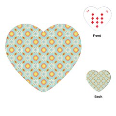 Cute Seamless Tile Pattern Gifts Playing Cards (heart)  by creativemom